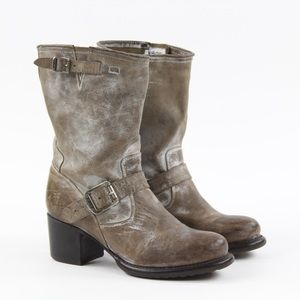 Frye Veronica Short Motorcycle Slouchy Boots Sz 8
